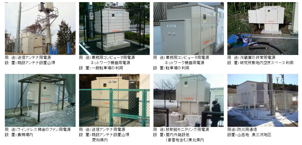 小型発電装置の導入事例